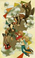 falling mothership by wasawasawa