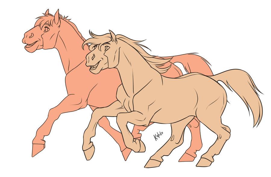 Free line (horses, unicorns) by Kahito-Slydeft