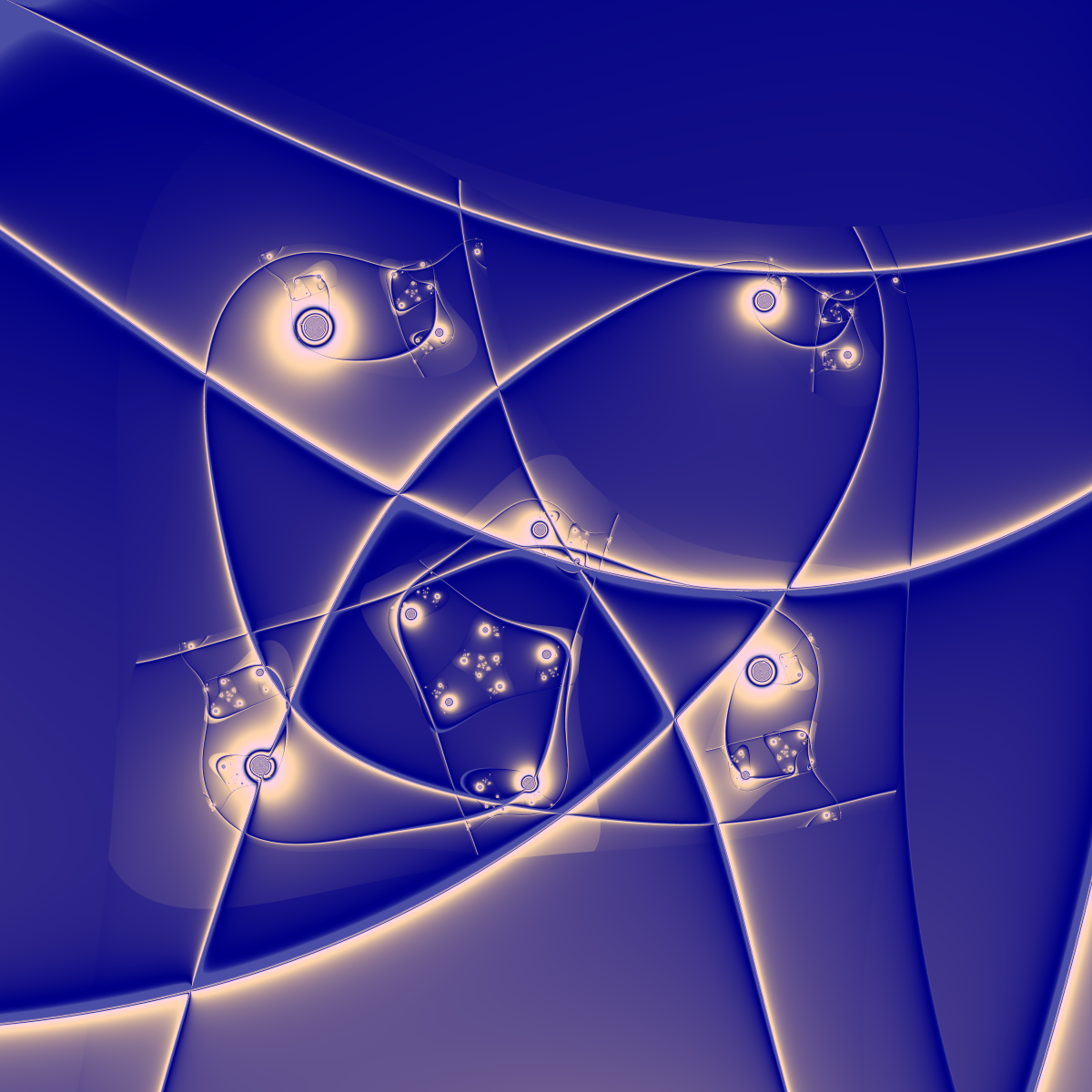 Mad blue orbits by scottVee
