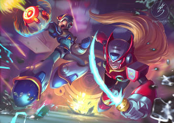 Megaman X and Zero! by StarSoulArt