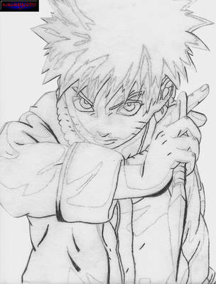 Naruto Sketch by Kataang6201