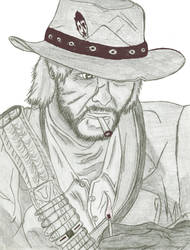 John Marston Sketch by Kataang6201