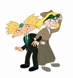 Arnold and Helga (April Fools' Day) by Alika-Storyteller