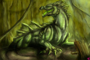 -Speedpaint- The Dragon of the Swamp by Isashadow