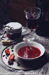 Wine decadent strawberry jam by SunnySpring