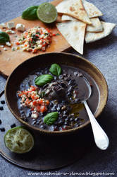 Costa Rican black bean soup by SunnySpring