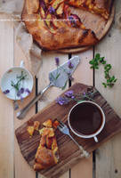 Rustic peach and lavender tart by SunnySpring