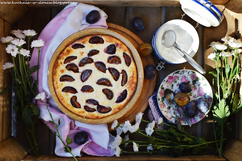 Cottage cheese and plums souffle by SunnySpring