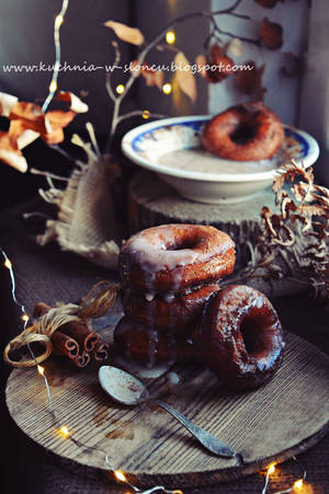 Spicy donuts with buttermilk cinnamon glaze by SunnySpring