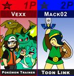 SSB Vexx Trainer and Toon Mack by VexxBlack