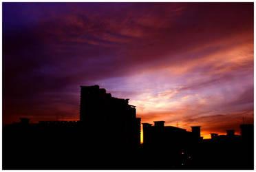 Fiery Skies by Semota by photodeviationists