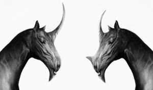 Sketch Horses, Krita by VivianeNonato