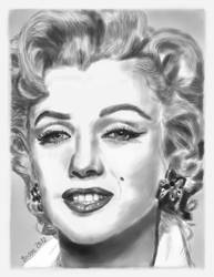 Marilyn Monroe by BasseBlues