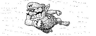 Wario rams something [Miiverse post] by KuriTails