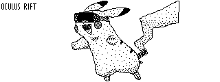 Pikachu with Oculus Rift [Miiverse post] by KuriTails