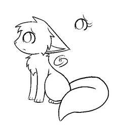 Sad kitty or cat base [V2] by Cinnamomotte