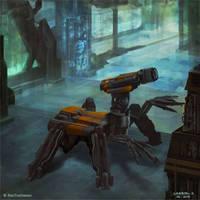 Burning Suns - Repair droid by Ellixus