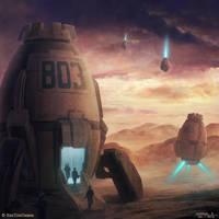 Burning Suns - Deploying Pods by Ellixus
