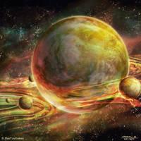 Burning Suns - Ercinean Homeworld by Ellixus
