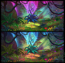Magical Forest - Concepts 04 by Ellixus