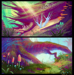 Magical Forest - Concepts 05 by Ellixus