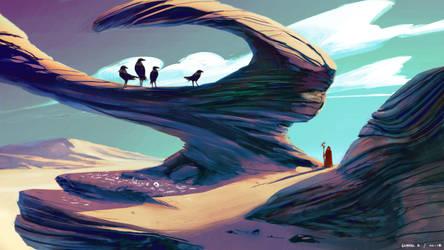 Through the Desert II by Ellixus