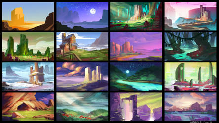 Color studies 01 by Ellixus