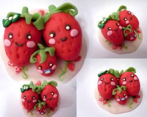 kawaii stawberry family by BujinB