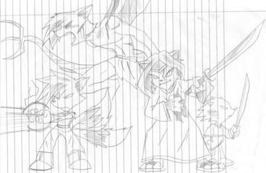Team Shadowclaw battle by darkcoolex