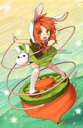 Spin Carrot 3D anaglyph by KokoriGlyph