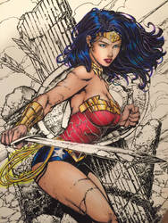 Wonder Woman - Lighting (Markers) by TypeSly