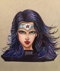 Wonder Woman - Disco (Colored Pencil) by TypeSly