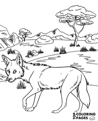 Coyote printable coloring sheet by Topcoloringpages