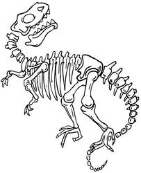 Dinosaur skeleton for coloring by Topcoloringpages
