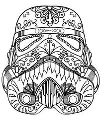 Star Wars mandala for coloring by Topcoloringpages