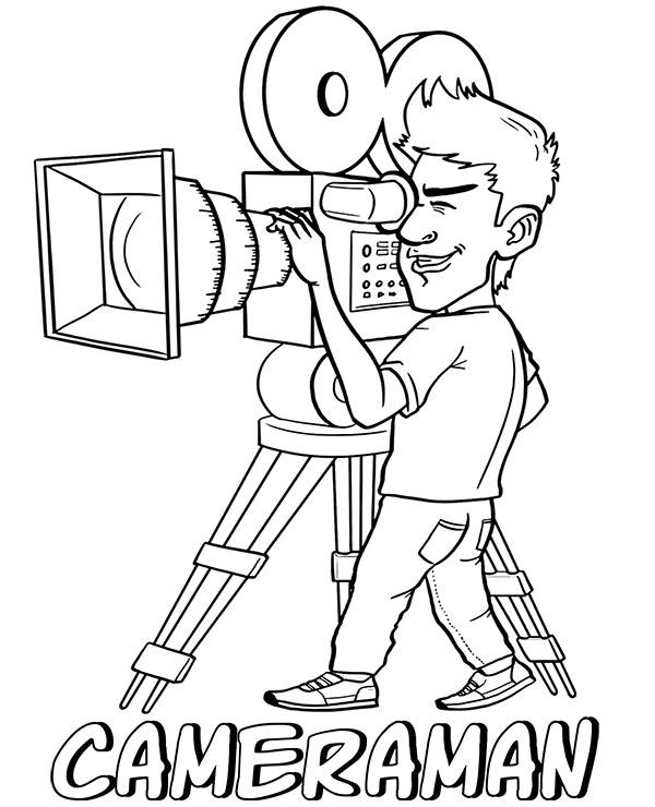 Filmmakers cameraman coloring page by Topcoloringpages