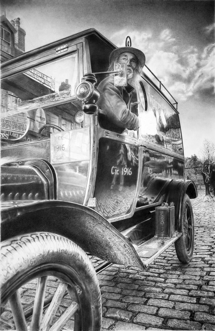 Old car by francoclun
