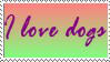 I love dogs stamp by Tsiki10