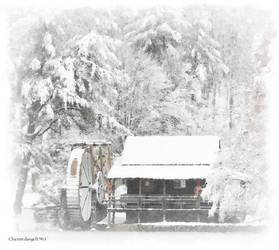 Snowy Gristmill by charmedangel61