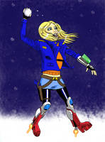 Captain Sera Besh Snowball Fighter by Robsojourn