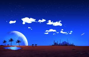 Blue Arabian Night by fantmayo