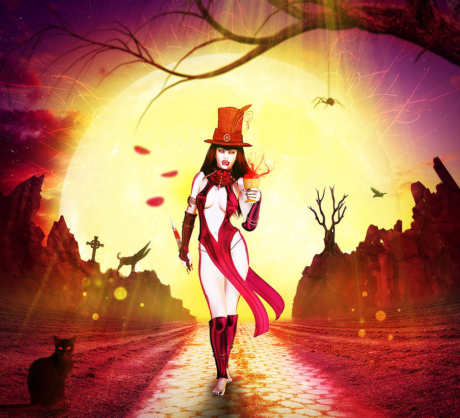 Vampire Moonwalk. by fantmayo
