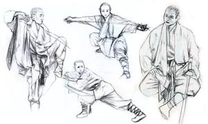 Shaolin Monk Studies by Kringelkatze