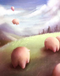 Piggy Pig by watermeloons