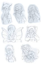 Pokecity Request Sketches by Ginseng-Cielo