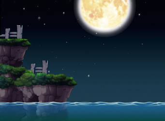 Night Time View Custom Background by EightQueens