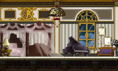 Fancy looking Bedroom Custom Background by EightQueens