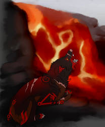 Max The Lava Wolf by lxWingedWolfxl