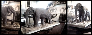 WIP elephant.. by JBVendamme