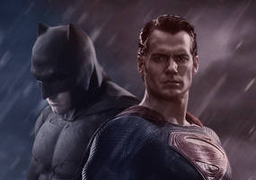 Batman V. Superman: Dawn of Justice by MessyPandas